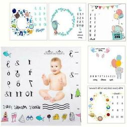 Newborn Baby Monthly Growth Milestone Blanket Photography Pr