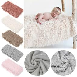 Newborn Baby Soft Faux Fur Photo Prop Blanket For Children's