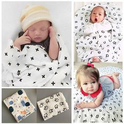 Newborn Baby Soft Muslin Blanket Bedding Blanket Wrap Swaddl