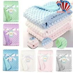 Newborn Baby Solid Blanket & Swaddling Thermal Soft Fleece T