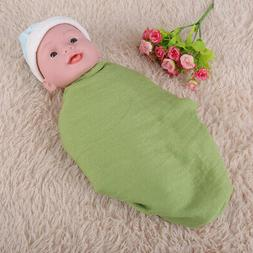 Newborn Baby Stretch Wrap Photography Photo Prop Cotton Line