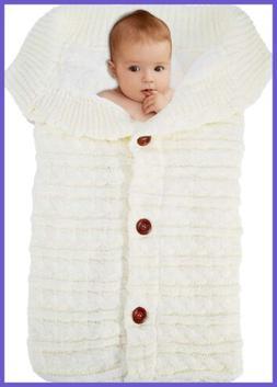 Newborn Baby Swaddle Blanket Fleece Stroller Wrap Nap Plus V