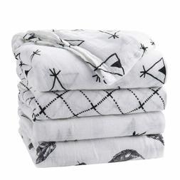 Upsimples Newborn Baby Swaddle Blanket Unisex Soft Bamboo Mu