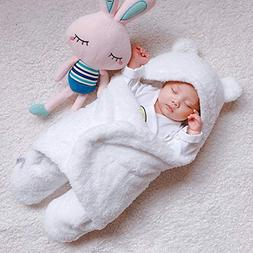 Newborn Baby Winter Wrap Swaddle Blanket, Cute Unisex Receiv