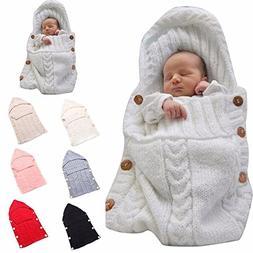 Newborn Baby Wrap Swaddle Blanket, Kids Wool Knit Swaddle Ki