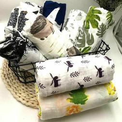 Newborn Blanket Bedding Bath Towel Children Print Cotton Bab