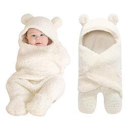 Newborn Boys Girls Cute Receiving Blanket, Baby Wrap Swaddle