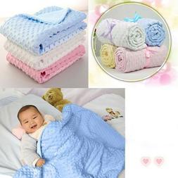 Newborn Infant Baby Blanket Warm Fleece Stroller Cover Quilt