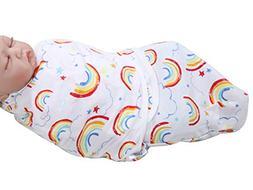 Happy Cherry Newborn Infant Baby Cotton Rainbow Swaddle Baby