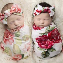Newborn Infant Baby Swaddle Blanket Baby Sleeping Swaddle Mu