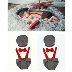 Newborn Photo Props Baby Boy Girls Crochet Knit Costume Phot