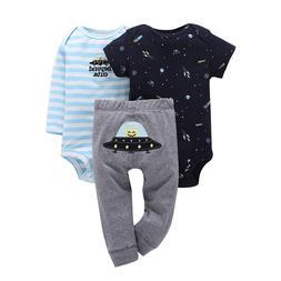 Newborn set 3PCS infant Baby Clothing suit cotton long sleev