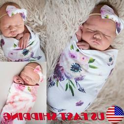 Newborn Swaddle Blanket Baby Boys Girls Sleeping Bag Wrap He