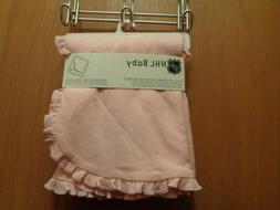 NHL MN Wild Baby 2-Ply Reversible Receiving Blanket Pink
