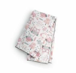 Levtex Baby Night Owl Pink Blanket