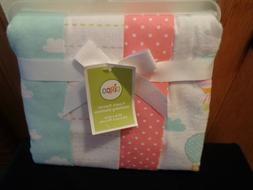 "Circo NIP 4 Pack Flannel Receiving Blankets 30"" X 30"" Balloo"