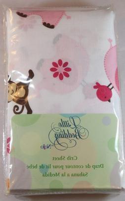 NIP Nojo Little Beddin Raspberry Jungle Girls Nursery Crib S