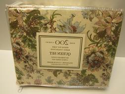 NIP! MACY's Queen Sheet Set Peony Floral Print 4 pc. poly/co