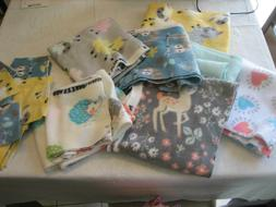 NOS Sewing Fabric - 7 Fleece Fabrics For Baby Blanket Or Qui