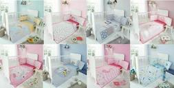 NURSERY-BABY BEDDING SET COVERLET BUMPER-FITTED SHEET 3 PIEC