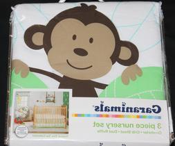 GARANIMALS 3 Piece Nursery Crib Set Tropical Jungle Comforte