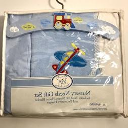 Koala Baby Nursery Needs 4 Pc. Gift Set Plane Train Blanket