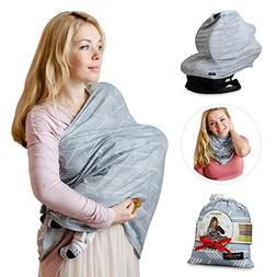 Nursing Breastfeeding Cover Scarf - Baby Car Seat Canopy, Sh