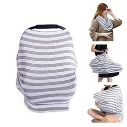 PPOGOO Nursing Cover for Breastfeeding Super Soft Cotton Mul