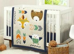 NWOT 4 Piece Aztec Woodland Baby Crib Bedding Set. Little Lo
