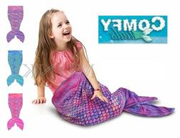 NWOT Comfy Tails Childrens Super Soft and Cozy Fleece Mermai