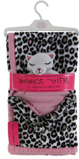 NWT BETSEY JOHNSON 2PC BABY BLANKET/SECURITY BLANKET LEOPARD