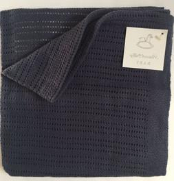 NWT PEACOCK ALLEY $95 CROCHET BABY BLANKET 100% EGYPTIAN  CO