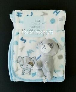 NWT Alphabet Baby Blanket Puppy Dog Plush S L Home Fashions