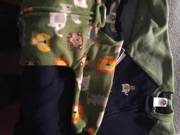 NWT Gerber Baby and Little Boy 2 Pack Blanket Sleepers  18 m
