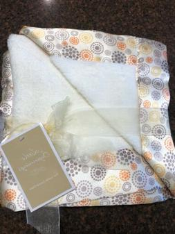 NWT LITTLE BEGINNINGS Baby Blanket Satin Edging ~Ivory Color