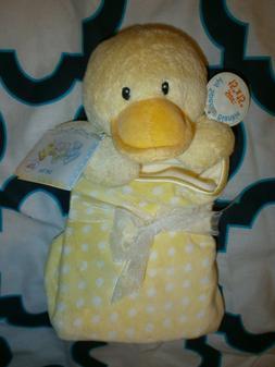 NWT Baby Gund Dottie Dots Duck Yellow Lovey Security Blanket
