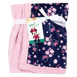 """NWT BABY GIRL MINNIE MOUSE SOFT PLUSH BLANKET 30"""" X30"""""""