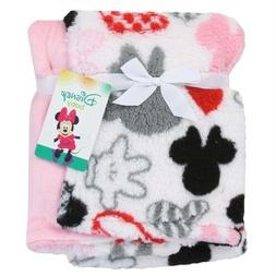 NWT Baby Girl Soft Fleece Minnie Mouse Blanket