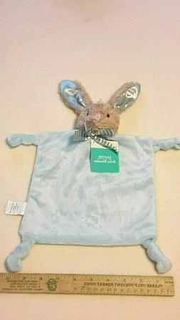 NWT DAN DEE Baby Lovey Blue Plush Bunny Rabbit Rattle Securi