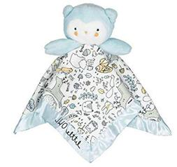 BABY STARTERS BLUE PRINT OWL SNUGGLE BUDDY SECURITY BLANKET