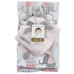NWT Blankets & and Beyond Baby Girl Layette Pink Gray Elepha