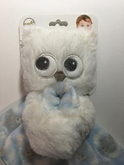 Nwt Blue And White Owl Blankets & Beyond Security Blanket Nu