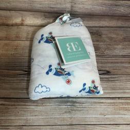 NWT! Elegant Baby Boy 2 Pack Swaddle Muslin Blankets 100% Co