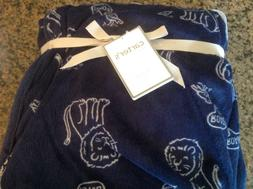 "NWT Carter's Baby Boys  Plush Cozy Blanket Lion 40"" x 30"" Bl"