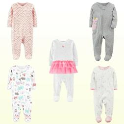 NWT Carter's Baby Girls 1-Pc. Ballet/Mouse/Floral Cotton Sle