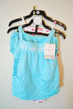 Carter/'s Girls/' 3-piece Diapercover Set Pink Blue Whales