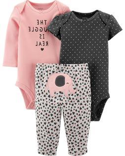 NWT Carter's sz 6 9 12 18 24 M Baby Girls' 3-Piece Little El