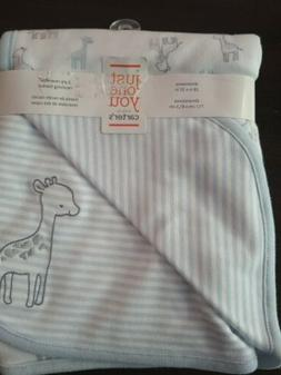 NWT Carters Just One You Blue And White Giraffe Striped Baby