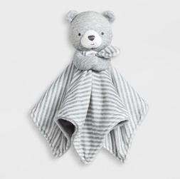 NWT Carters Just One You Gray Bear Security Blanket White St