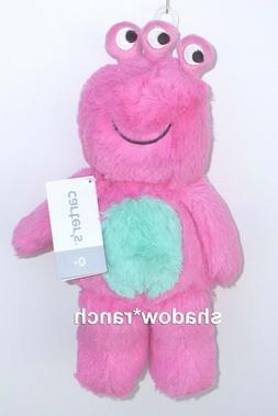 NWT Carters Pink Monster Plush Doll Three 3 Eyes Stuffed Ali